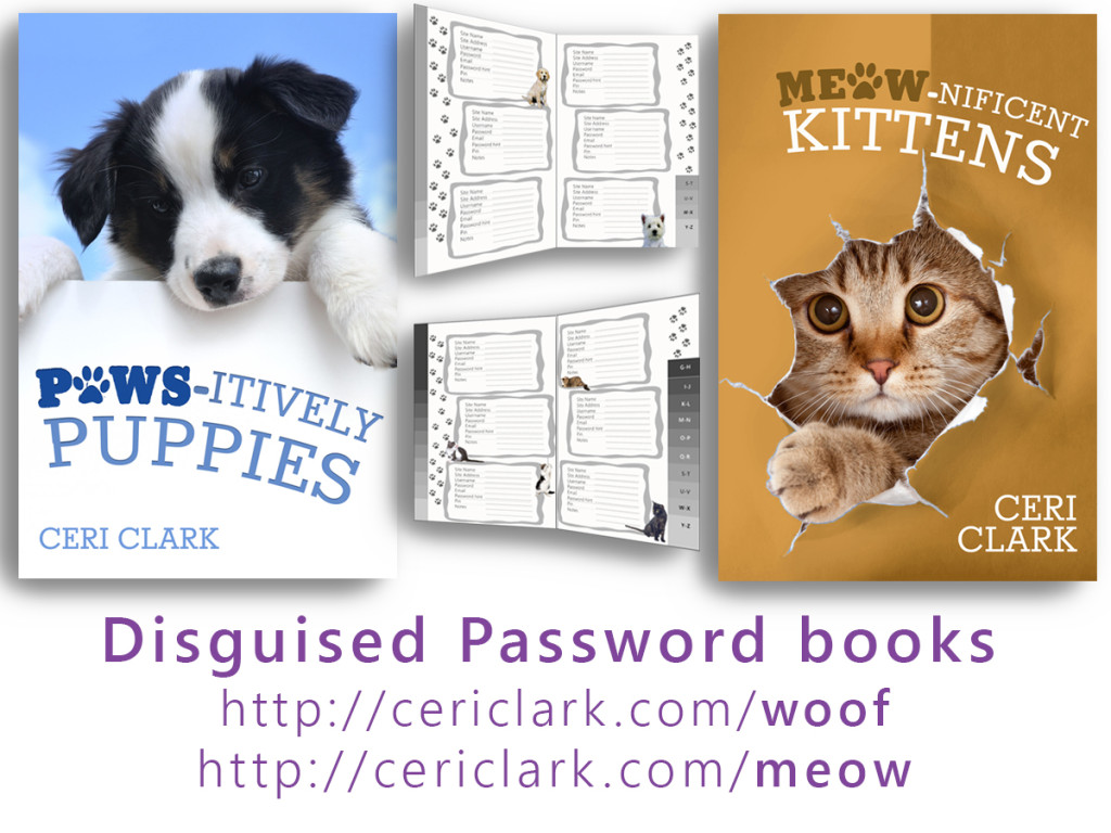 Meow-nificent Kittens iand Paws-itively Puppies are secret password books