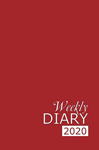 Weekly Diary 2020: Red Weekly Diary for 2020, Week to View (January to December) Planner (6×9 inch) (Clark Diaries & Journals)
