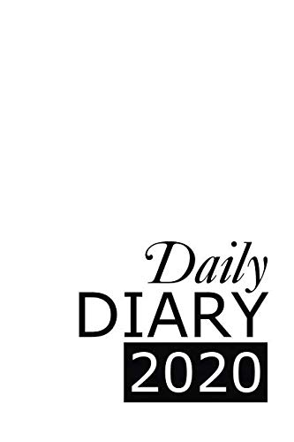 Daily Diary 2020: White 365 Day Tabbed Journal January – December (Clark Diaries & Journals)