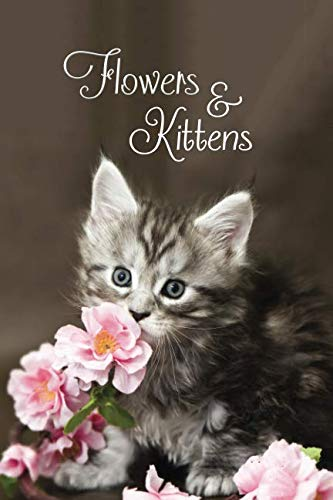 Flowers & Kittens: Password Book With Tabs to Protect Your Usernames, Passwords and Other Internet Login Information | Kitten and Flower Design 6 x 9 inches (Quill Password Books)