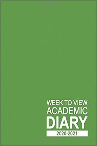 Week to View Academic Diary 2020-2021: 16 Month Green Weekly Diary for 2020-2021, Week to View (September 2020 to December 2021) Planner (6×9 inch) (2020-2021 16-Month Week to View Diaries) Paperback – Large Print