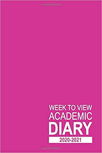 Week to View Academic Diary 2020-2021: 16 Month Pink Weekly Diary for 2020-2021, Week to View (September 2020 to December 2021) Planner (6×9 inch) (2020-2021 16-Month Week to View Diaries) Paperback – Large Print
