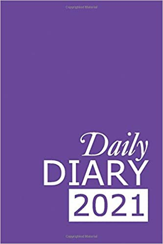 Daily Diary 2021: Purple 365, One Page per Day, Tabbed Journal, January – December | 6 X 9 Inches