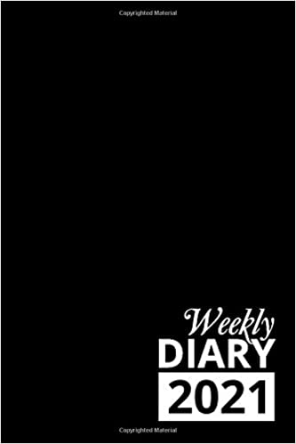 Weekly Diary 2021: Black 12 Month Week to View Planner From January to December 2021 | 6×9 Inch