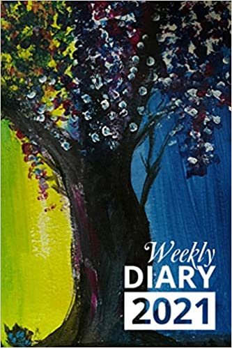 Weekly Diary 2021: Wisteria 12 Month Week to View Planner From January to December 2021 | 6×9 Inch