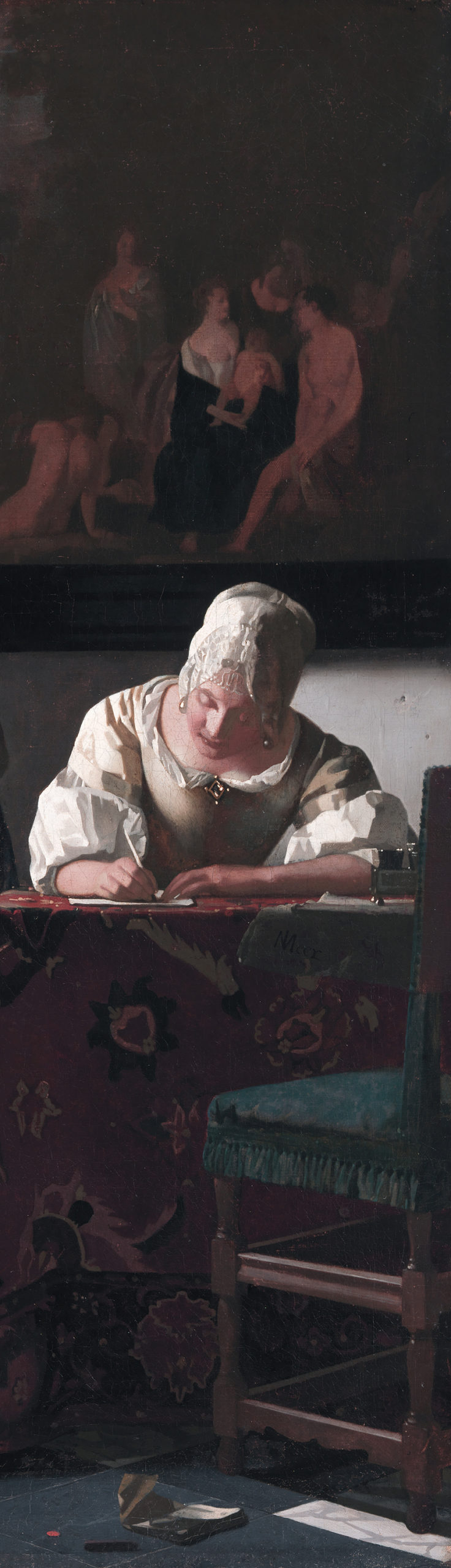 Picture of a woman writing