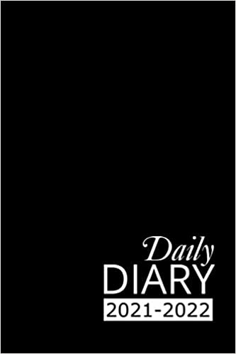 Daily Diary 2021-2022: Black Academic Year, One Page per Day, Tabbed Journal, September – December | 6 X 9 Inches