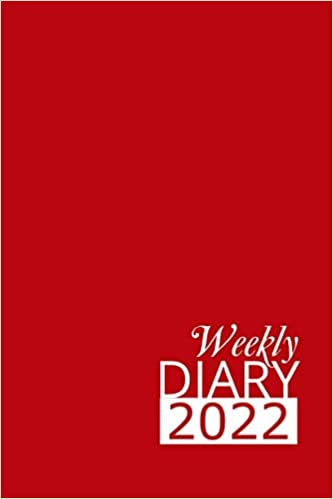 Red Weekly Diary 2022: 12 Month, Week To View Planner for January to December 2022 (6×9 inch)