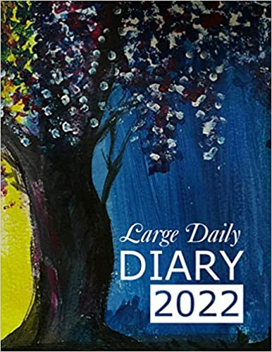 Large Daily Diary 2022 Wisteria: 365 Day, Dated and Tabbed Journal January – December | 8.5 X 11 Inches (2022 Daily Diaries)