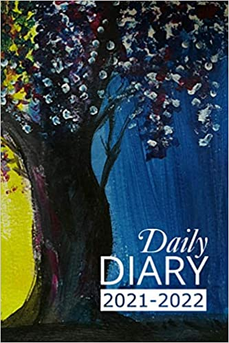 Daily Diary 2021-2022: Wisteria Academic Year, One Page per Day, Tabbed Journal, September – August | 6 X 9 Inches