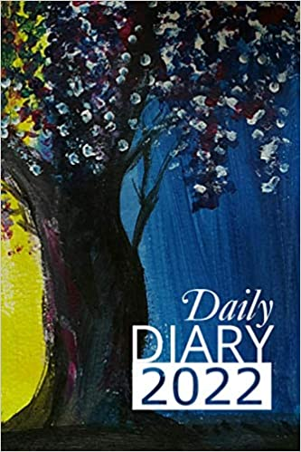 Daily Diary 2022: 365 Day, Dated and Tabbed Journal January – December | Wisteria 6 X 9 Inches (2022 Daily Diaries)